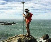 Land Surveying Example - Surveyor on Coastline