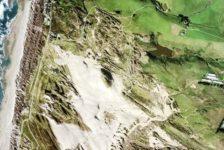 Land Surveying Example - Aerial Photo of Coastline