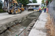 City of Calistoga Improvements Trench in Road