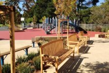 Mount Tamalpais School Campus playground and benches