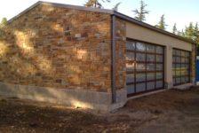Sonoma Residence Stone Garage