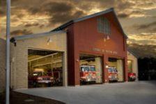 Firetrucks in Cloverdale Fire Station