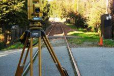 Sonoma-Marin Area Rail Transit - Survey Equipment on Train Tracks