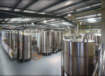 Inside Seismic Brewing Company's Facilities