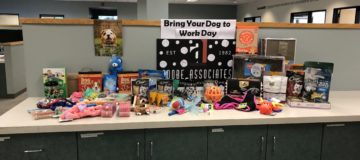 2018 bring your dog to work day fundraiser picture of the donations for the sonoma county animal shelter