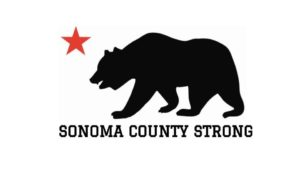 California flag image of the bear and the star with the text Sonoma County Strong to symbolize how the county has come together to rebuild