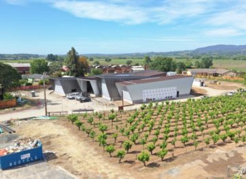 Aerial Shot of Aperture Cellars Vineyard