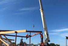 Aperture Cellars - Crane Placing Steel Beams