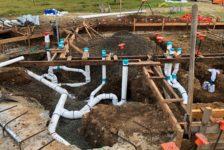 Aperture Cellars Placing PVC Piping