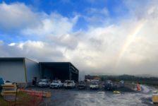 Aperture Cellars - Rainbow on Foggy Morning