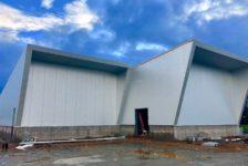 Aperture Cellars Production Building Under the Clouds