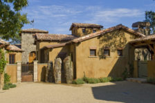 Tuscan Ranch House Courtyard