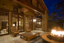 Tuscan Ranch House Fire Pit