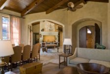 Tuscan Ranch House Living Room
