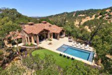 Aerial View of Adobe Canyon Estates' Pool