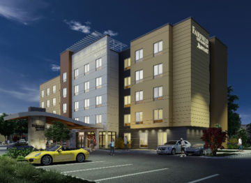 Conceptual Rendering of Hotel