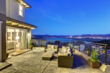 Drakes Cove Subdivision - Night on the patio