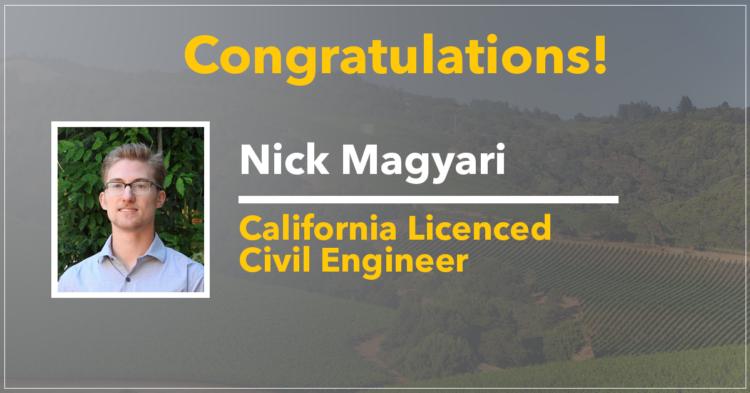 Nick Magyari, Professional Engineer